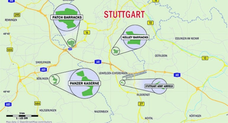 Us Army Shuts Down Stuttgart Army Facility - Pentagon in Map Of Stuttgart Germany Area