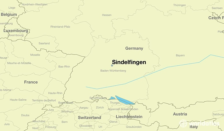 Where Is Sindelfingen, Germany? / Sindelfingen, Baden regarding Stuttgart Zone Map English