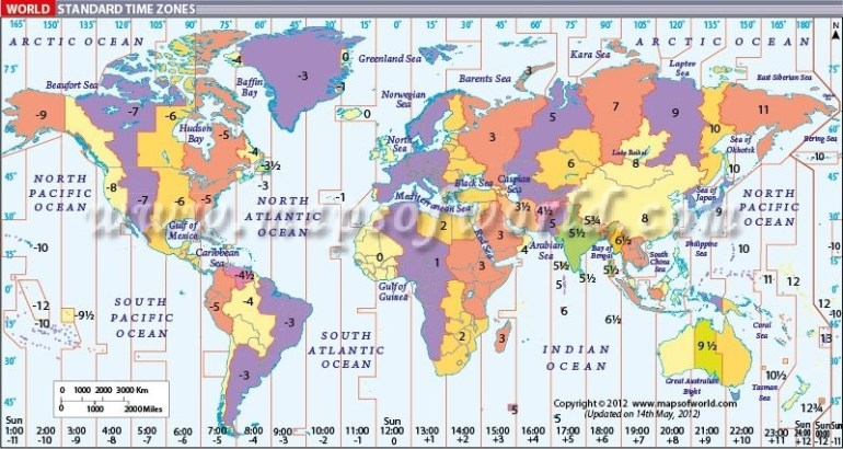 World Map With Time Zones | Time Zone Map, World Time with Stuttgart Zone Map English