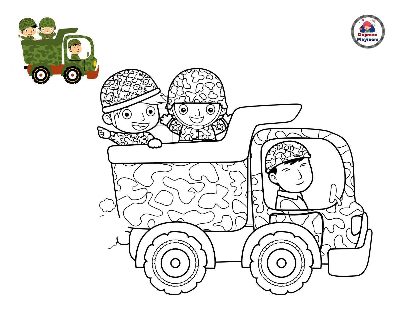 Army Coloring Pages For Boys