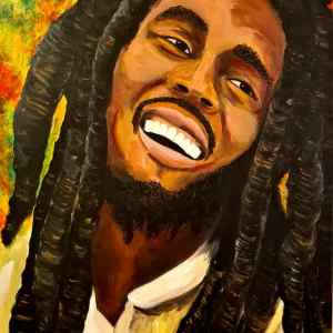 Original Painting of Bob Marley