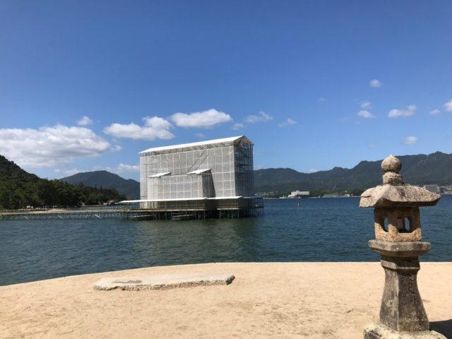 神社 工事 厳島