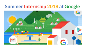 Paid BOLD Intern in Google For Summer 2018 in USA