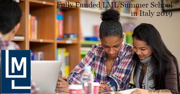 Fully Funded LML Summer School