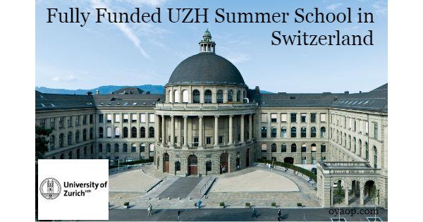 Fully Funded UZH Summer School