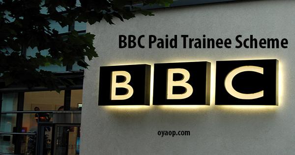 BBC Paid Trainee Scheme 2019 in United Kingdom