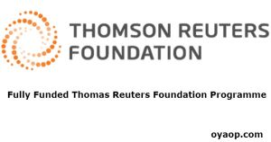 Fully Funded Thomas Reuters Foundation Programme