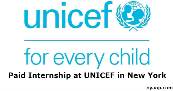 Paid Internship at UNICEF in New York