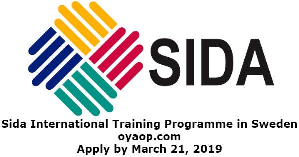 Sida International Training Programme in Sweden