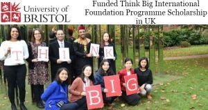 Think Big International Foundation Programme Scholarship