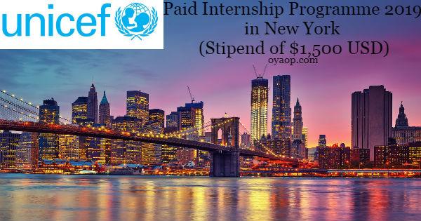 UNICEF Paid Internship Programme