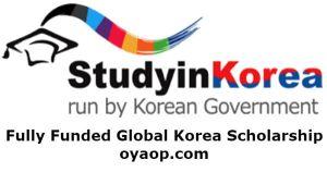 Fully Funded Global Korea Scholarship