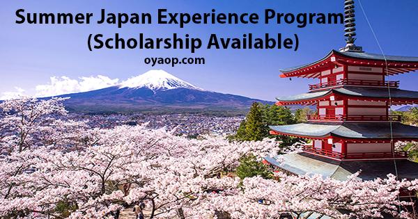 Summer Japan Experience Program 2019 (Scholarship Available)