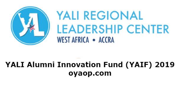 YALI Alumni Innovation Fund (YAIF) 2019