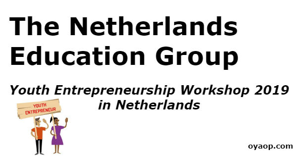 Youth Entrepreneurship Workshop 2019 in Netherlands