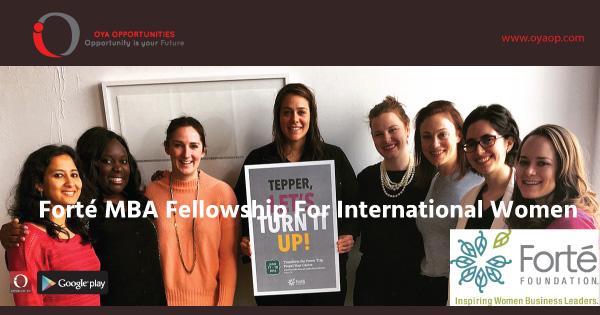 Forté MBA Fellowship for International Women