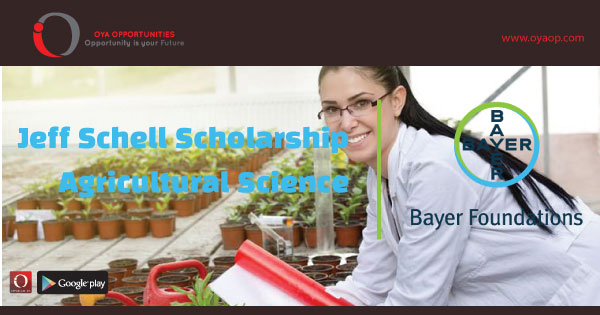 Jeff Schell Scholarship In Agricultural Science