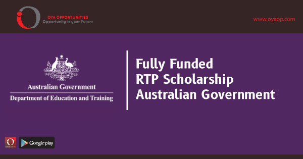Fully Funded RTP Scholarship by Australian Government