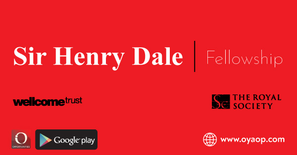Sir Henry Dale Fellowship: Fully Funded