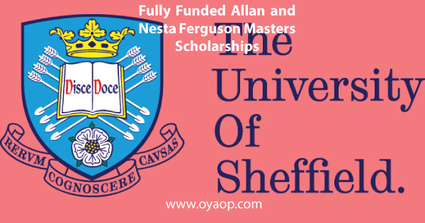 Fully Funded Allan and Nesta Ferguson Masters Scholarships