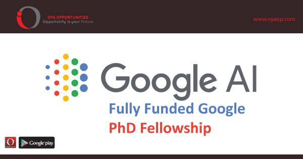 Fully Funded Google PhD Fellowship