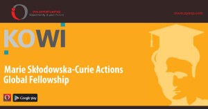 Fully Funded Madame Curie Global Fellowship