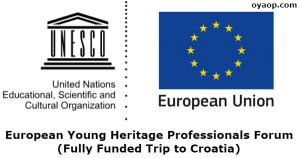 European Young Heritage Professionals Forum (Fully Funded Trip to Croatia)