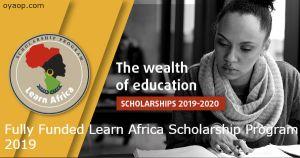 Fully Funded Learn Africa Scholarship Program 2019