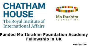 Funded Mo Ibrahim Foundation Academy Fellowship in UK