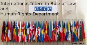 International Intern in Rule of Law and Human Rights Department