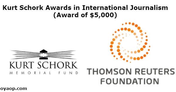 Kurt Schork Awards in International Journalism (Award of $5,000)