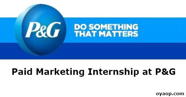 Paid Marketing Internship at P&G