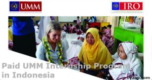 Paid UMM Internship Program in Indonesia