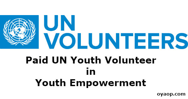 Paid UN Youth Volunteer in Youth Empowerment