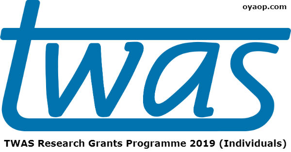 TWAS Research Grants Programme 2019 (Individuals)