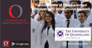 Funded Master of Pharmaceutical Scholarship for International Students