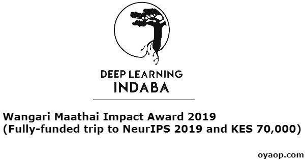 Wangari Maathai Impact Award (Fully-funded trip to NeurIPS 2019 and KES 70,000)