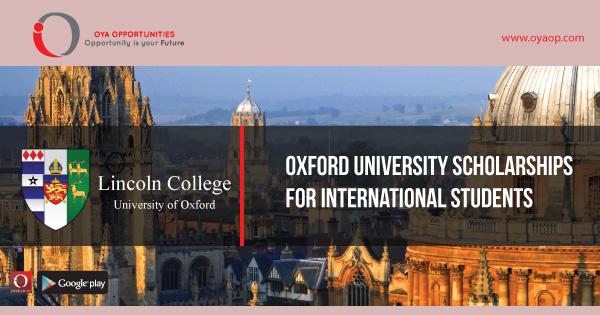 Oxford University Scholarships for International Students