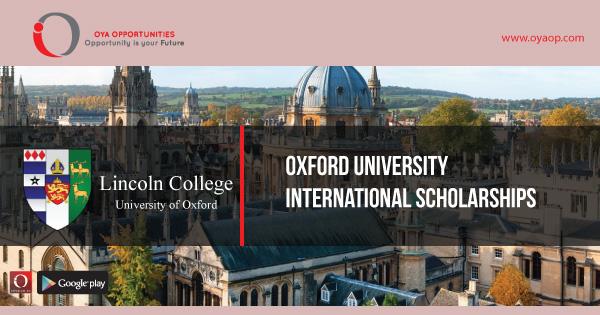 International Scholarships at Oxford University