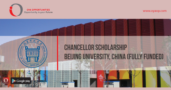 Chancellor Scholarship at Beijing University, China (Fully Funded)