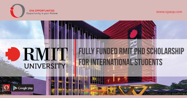 Fully Funded RMIT PhD Scholarship for International Students