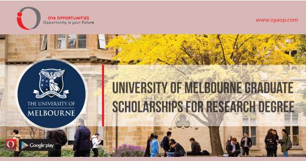 University of Melbourne Graduate Scholarships for Research Degree, oyaop, oyaop.com, www.oyaop.com, oyaop opportunities, oya opportunities