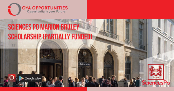 Sciences Po Marion Bruley Scholarship (Partially Funded)