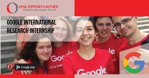 Google International Research Internship
