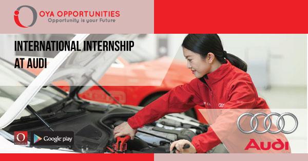 International Internship at Audi
