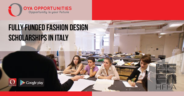 Fully Funded Fashion Design Scholarships in Italy