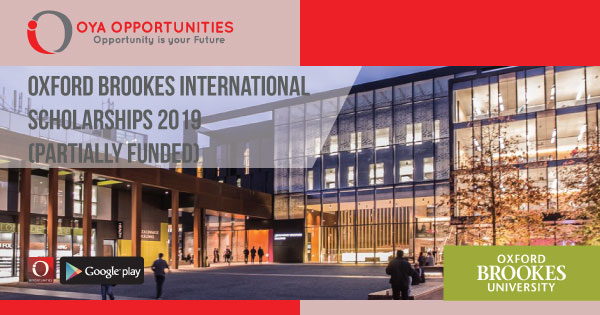 Oxford Brookes International Scholarships 2019 (Partially Funded)