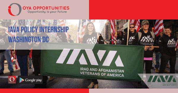 IAVA Policy Internship in Washington DC