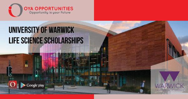 University of Warwick Life Science Scholarships