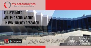 Fully Funded ANU PhD Scholarship in Immunology Research
